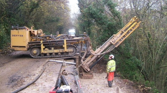 Rock Anchoring Services : Denver drilling services rock and ground anchors